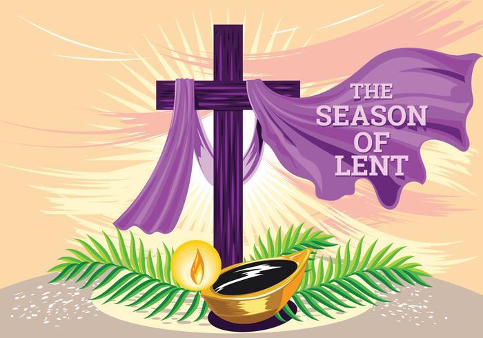Semana Santa. O tempo da Quaresma. Ilustração da mão