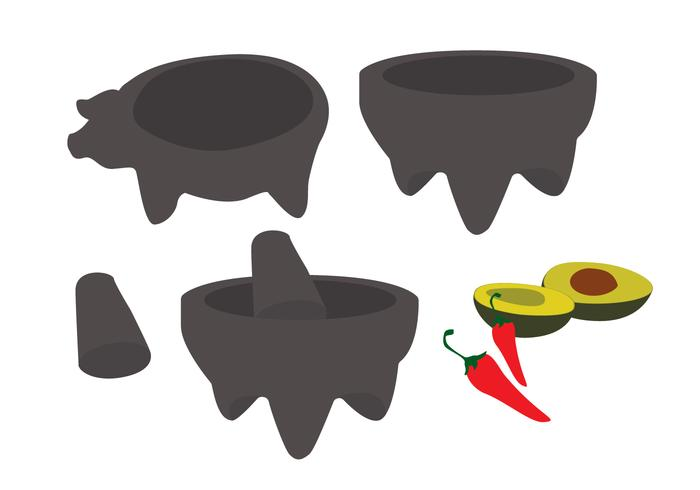 Molcajete Cartoon Vectors