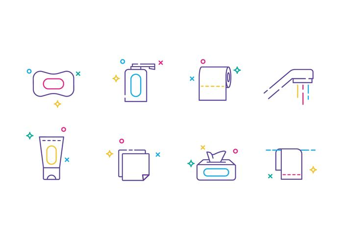 Simple Hygiene Line Icons