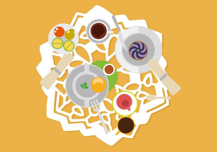 Free Table Setting With Serviette Vector