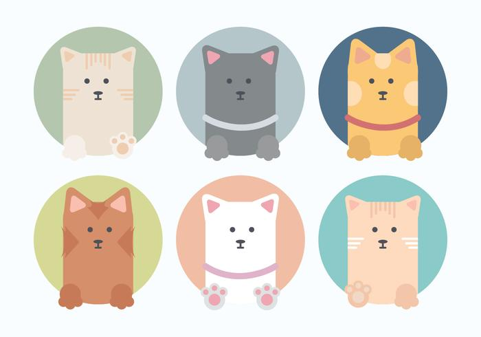 Vector Collection of Cute Cats