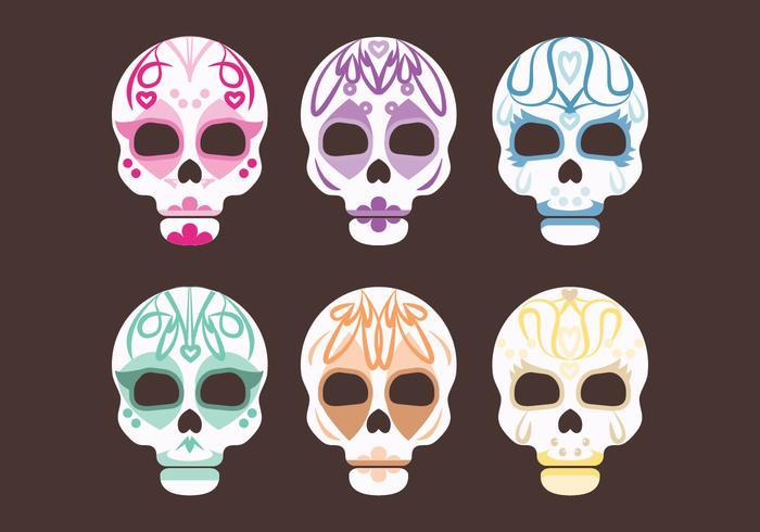 Vector Set of Sugar Skulls