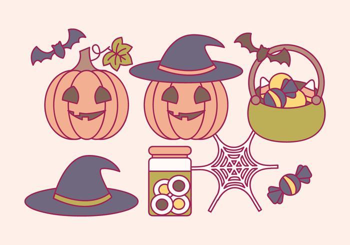 Vector Halloween Elements