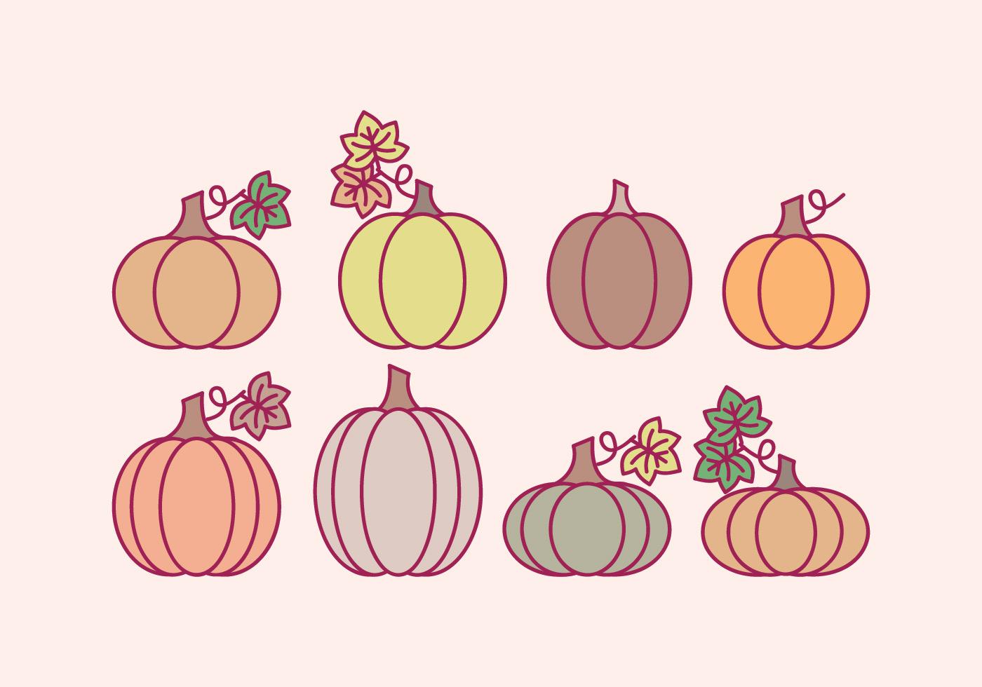 vector halloween outline pumpkins - download free vector art, stock