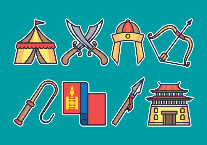 Mongolisches Icon Set