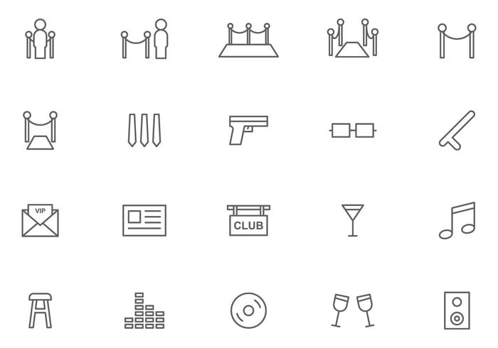 Free Bouncer and Night Club Vectors