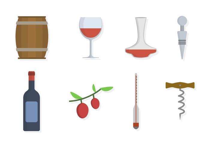 Flat Wine Taster Wesentliche Vektoren