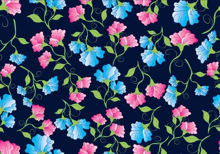 Sweet Pea Flowers Pattern