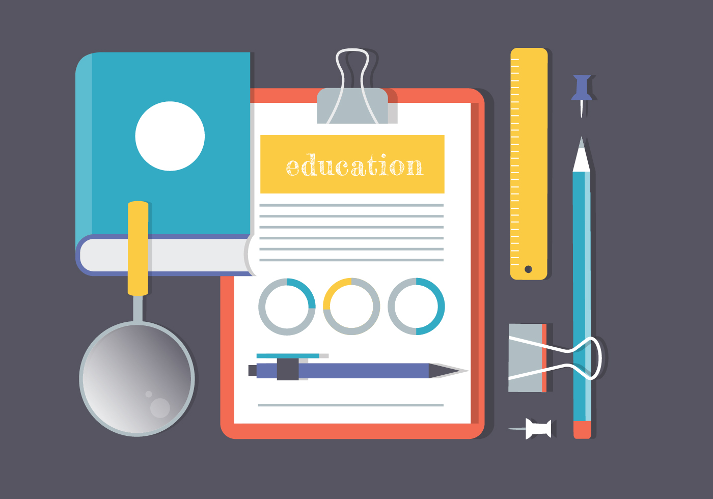 Free Flat Education Vector Elements - Download Free ...