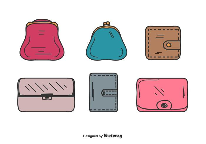 Wallet Vector Set