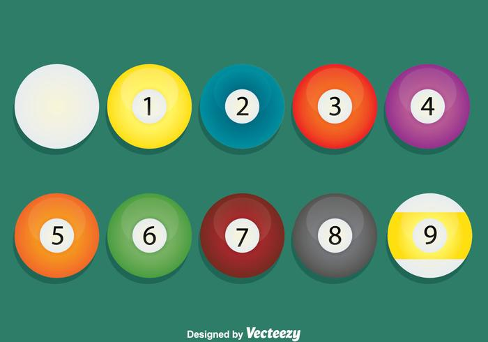 9 Ball On Green Vector