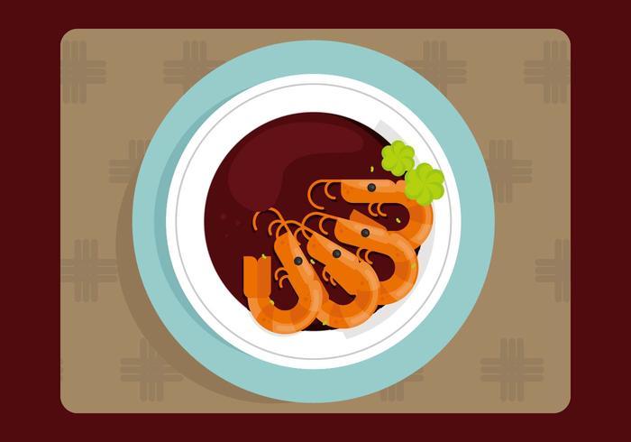 Illustration de crevettes
