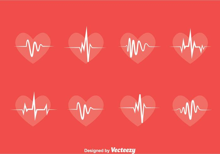 Heart Rhythm Collection Vector