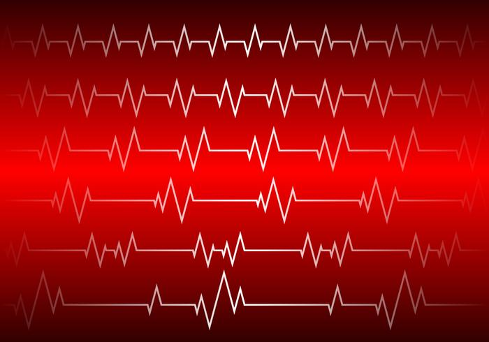 Heart Rhythm Red Background Free Vector