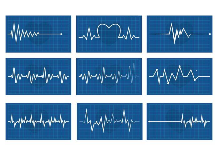 Hjärtrytm vektor set
