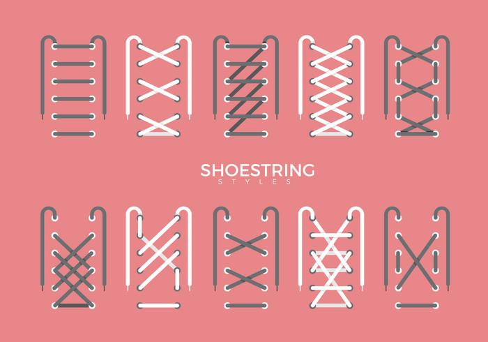 Shoestring Style Type Vector Flat Illustration