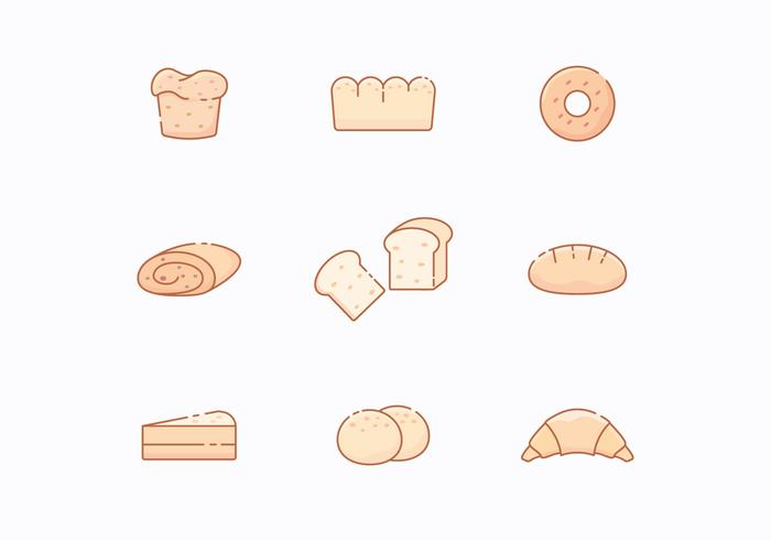 Free Icons of Bakery Products vector