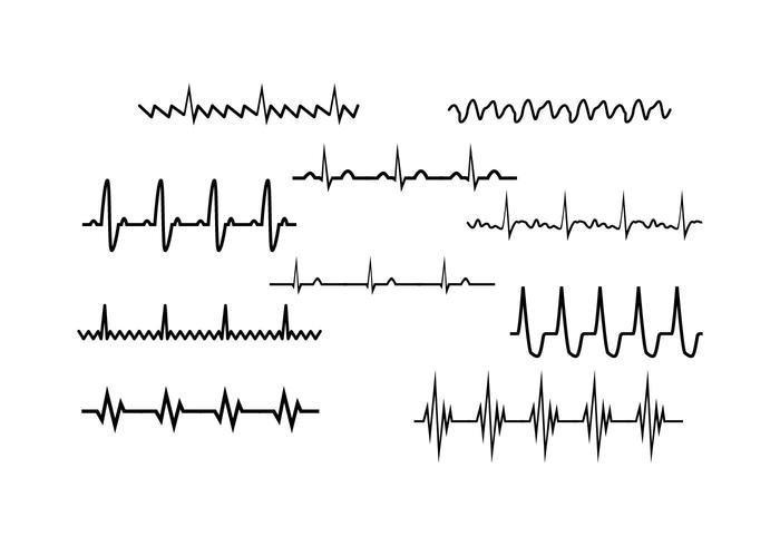 free heart rhythm collection vector