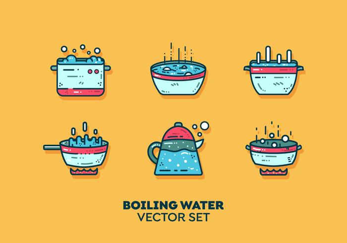 Vecteur d'eau bouillante gratuit