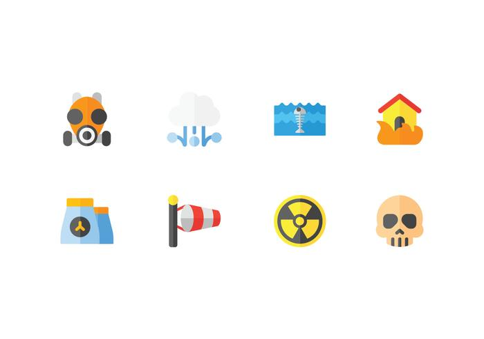 Natural disaster and weather icons
