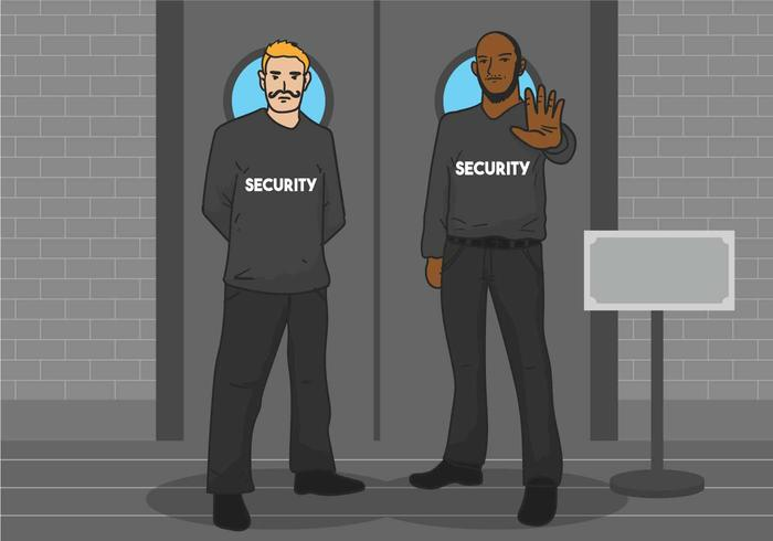 Bouncer vector illustration