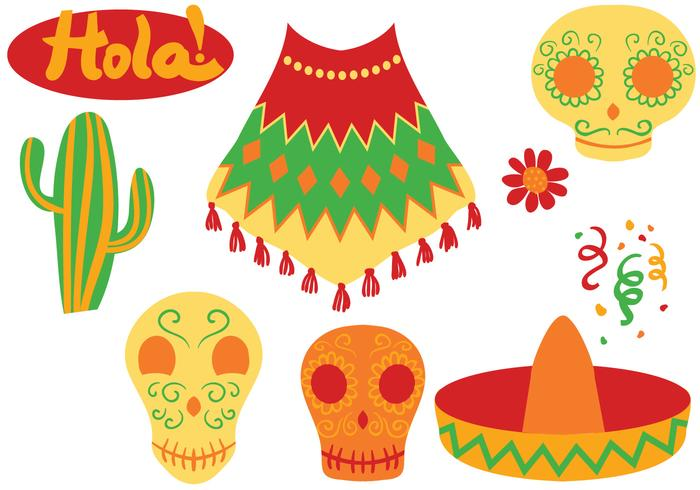 Free Colorful Mexican Vectors