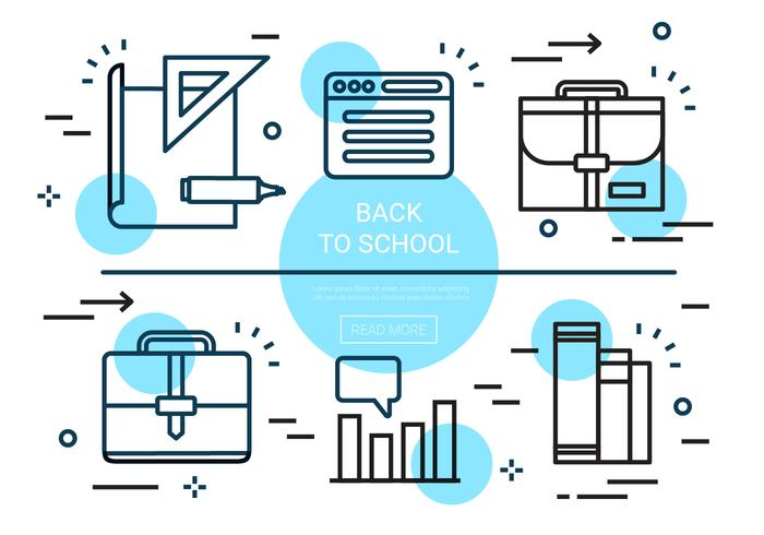Free Linear Back To School Vector Elements