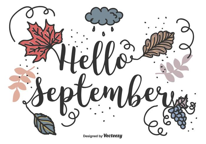 Ciao sfondo vettoriale settembre