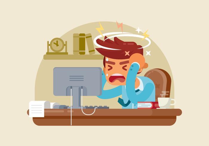 Sick Employee Illustration