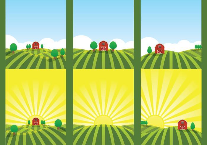 gård fält illustration