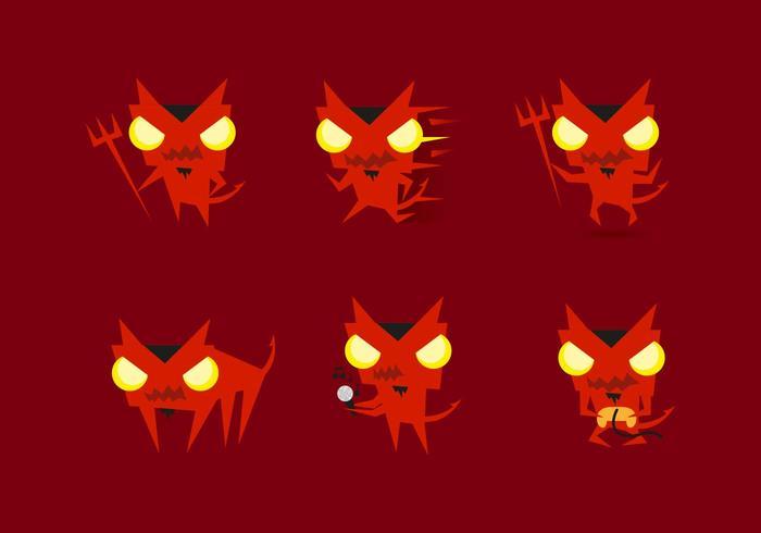 Lucifer Devils Emojis Emoticons Vectors
