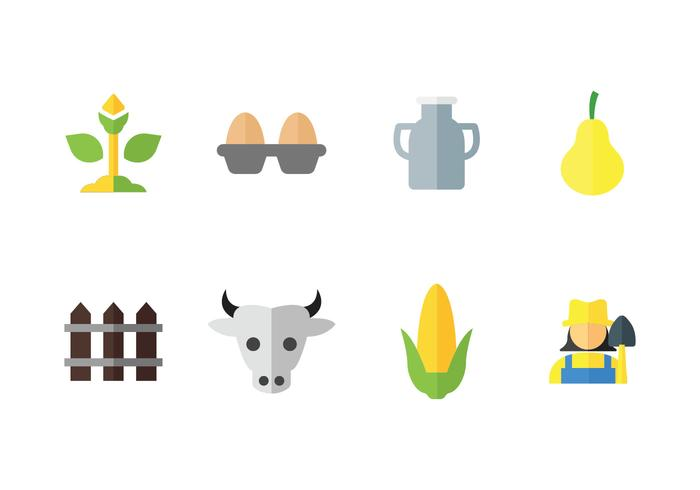 Peasant farming vector icons