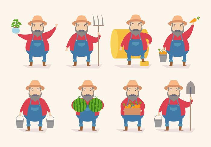 Tecknad bondevektor