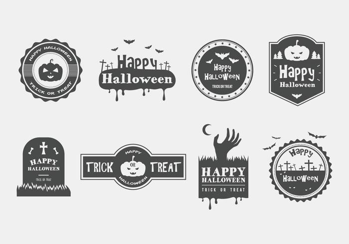 Happy Halloween Vector Badges
