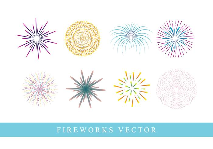 Fireworks on white background vector