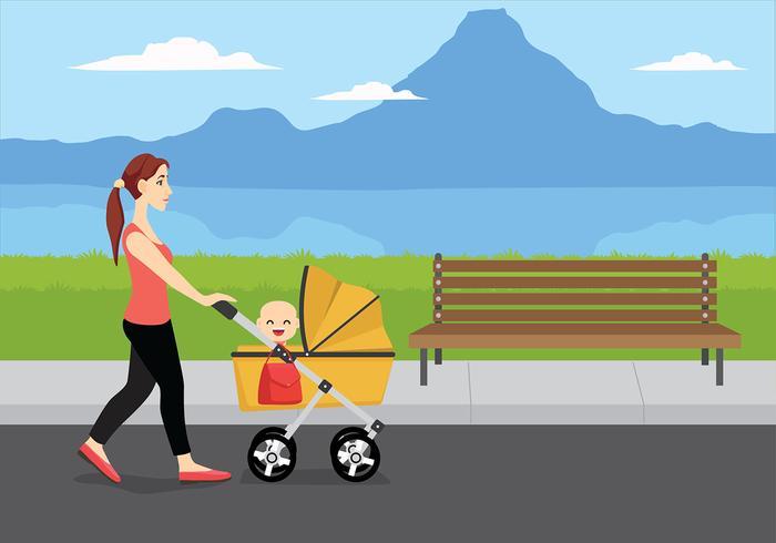 nanny illustration free vector