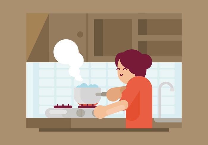 Kokande vatten illustration