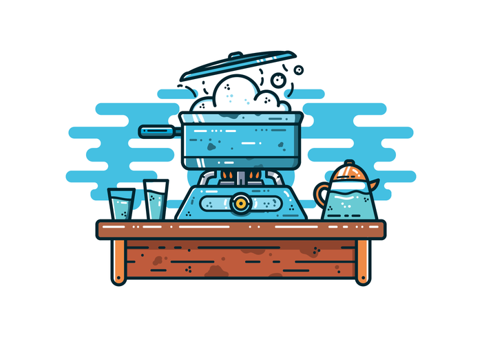 Free Boiling Water Vector
