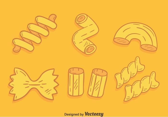 Hand Drawn Macaroni Collection Vector