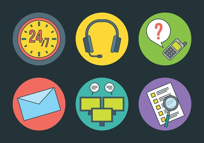Call Centre Vector Icons