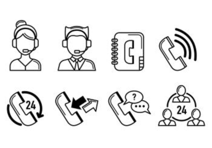 Set Of Call Centre Icons