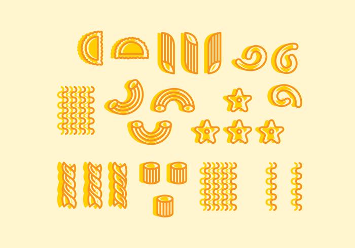 Macaroni Pictogrammen Vector