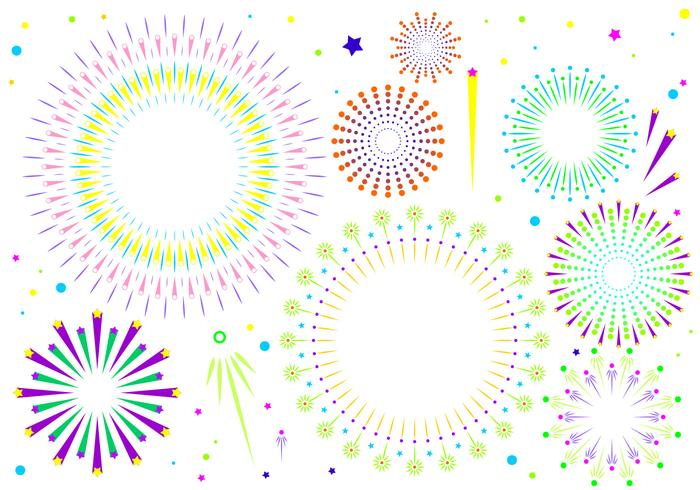 Vettore libero del fondo bianco dei fuochi d'artificio