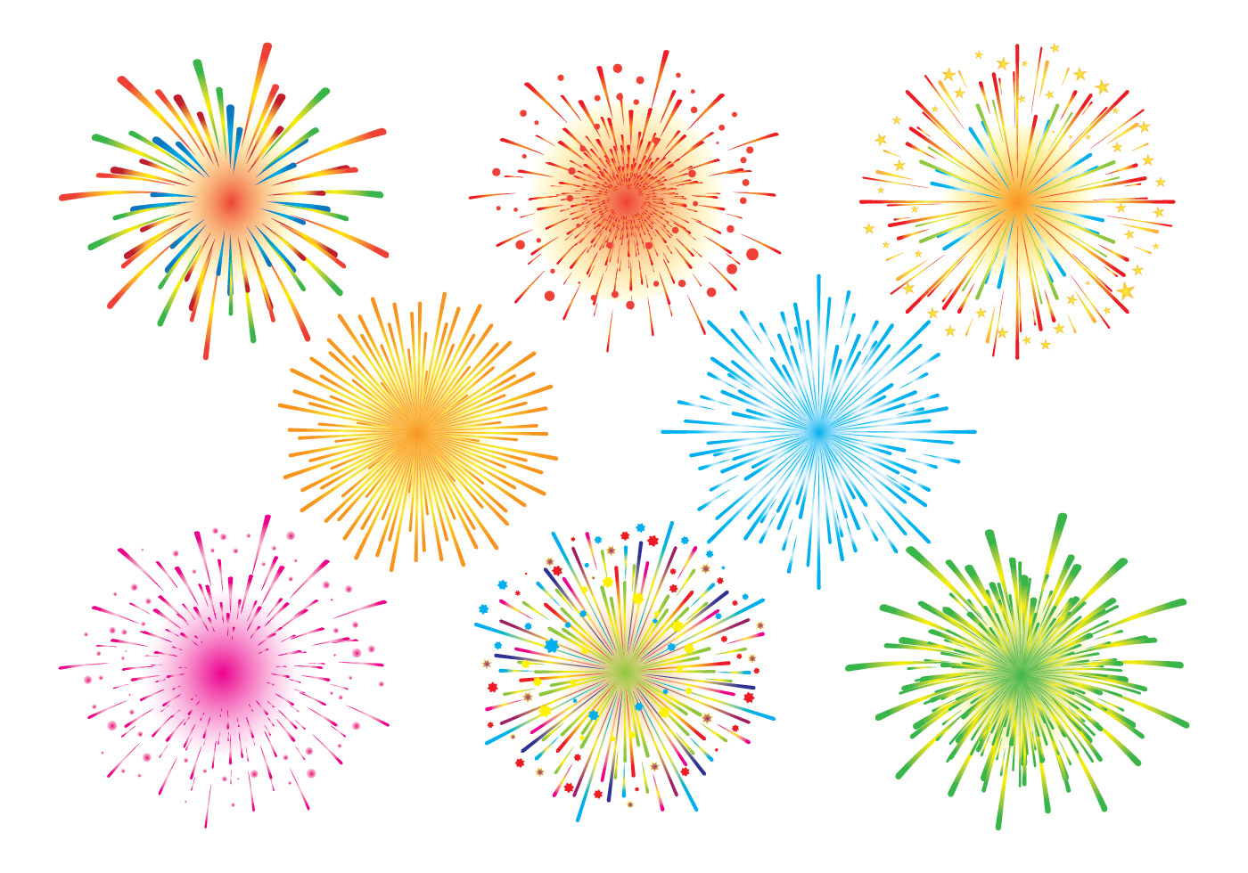 Fireworks White Background - Download Free Vector Art ...