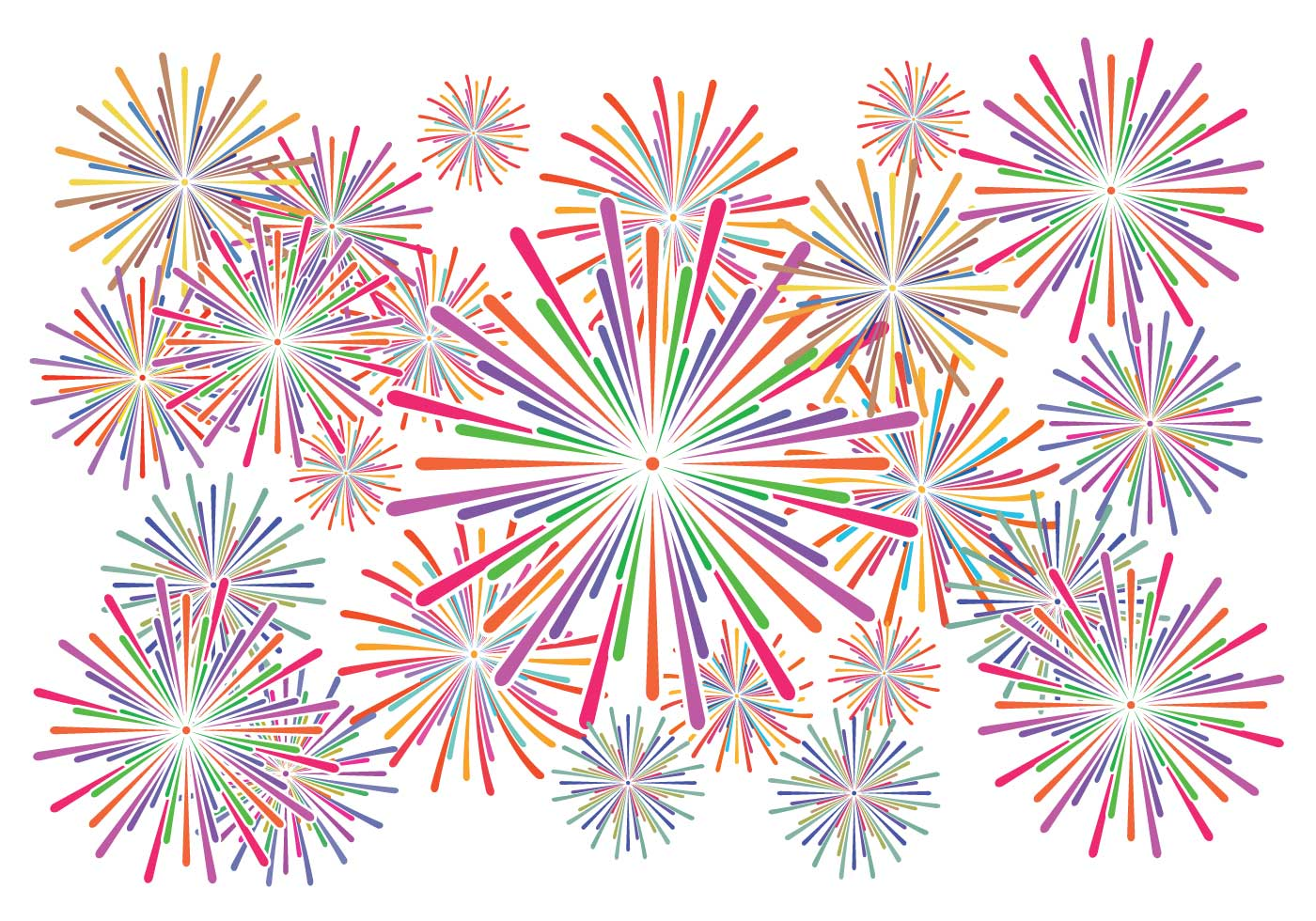 Fireworks white background vector - Download Free Vectors ...