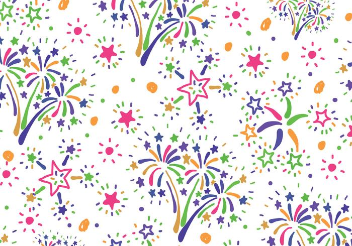 Colorful Fireworks Pattern