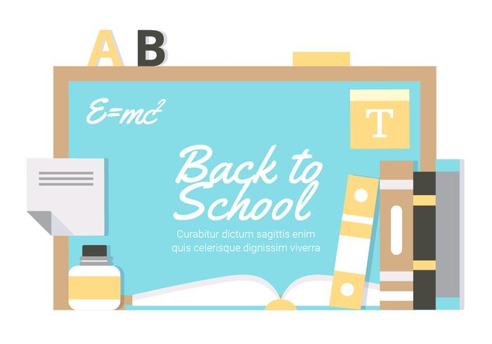 Free Flat Design Vector Back to School Illustration