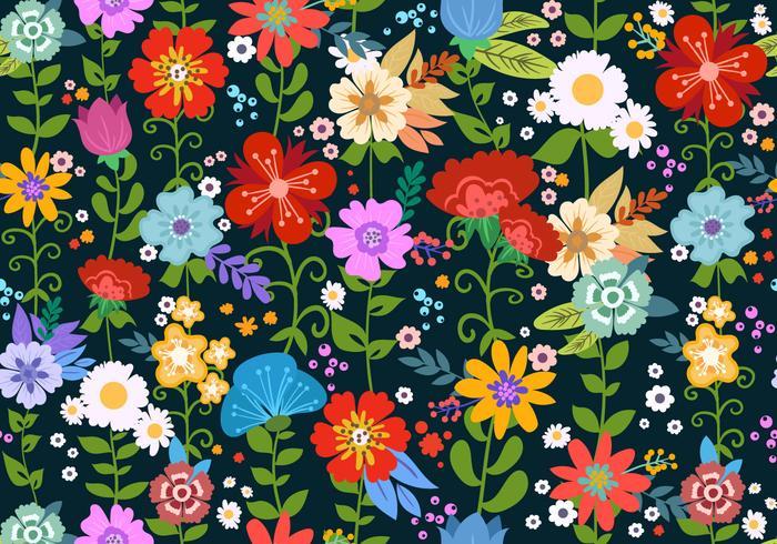 Éléments de motif sans soudure Flower Ditsy