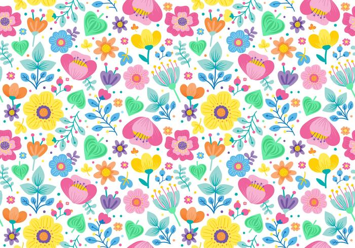 Cute Seamless Ditsy Floral Pattern vector