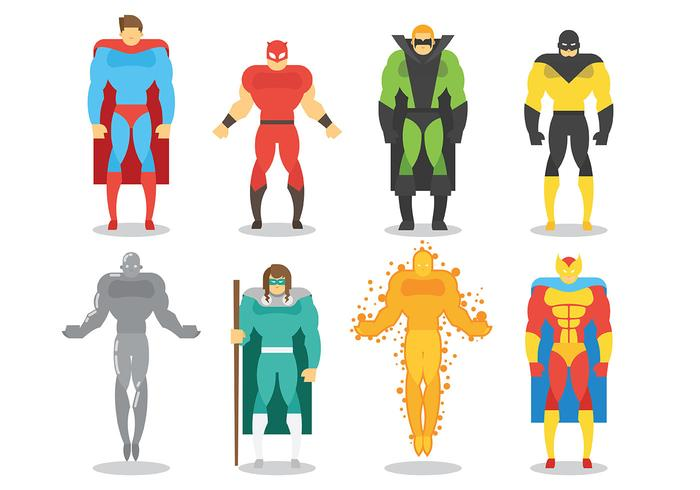 Super Heroes Vector Icons